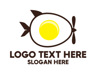 Fried Egg - Egg Delivery logo design