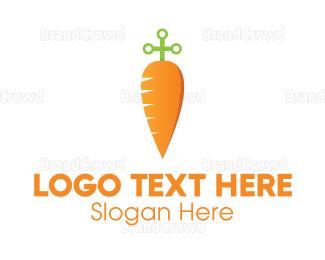Carrot - Sword Carrot  logo design