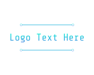 Information Technology - Cool Tech Wordmark logo design