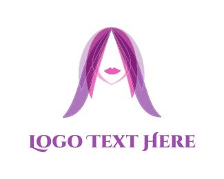 Purple Hair  Logo