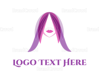 Hair - Purple Hair  logo design