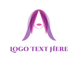 Angel - Purple Hair  logo design