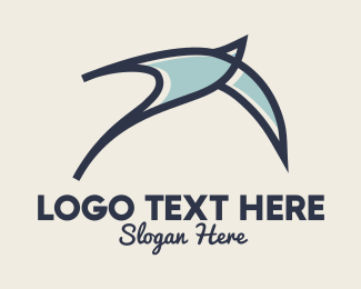 Glider - Abstract Bird Sketch logo design