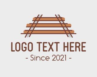 Train - Simple Train Tracks logo design