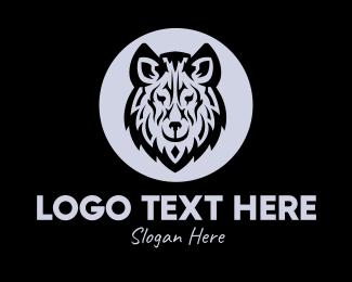 Racoon - Wild Wolf logo design