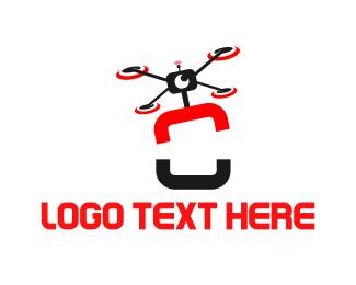 Letter O - Drone Letter O logo design