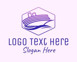 Cruise Ship - Minimalist Cruise Ship logo design