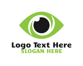 Eye Ball - Green Vision logo design