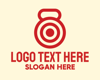 Bullseye - Red Kettlebell Workout Target logo design