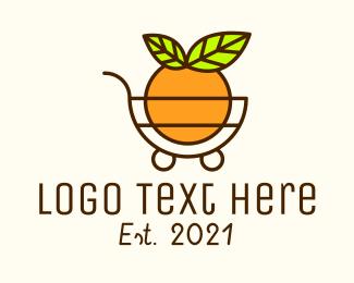 Marketplace - Fruit Grocery Cart logo design