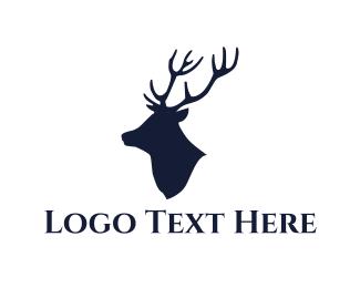 Moose - Deer Silhouette logo design