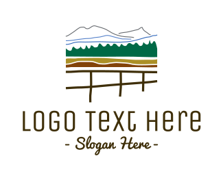 Tradition - Fence & Mountains logo design