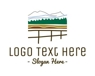 Mountain - Fence & Mountains logo design