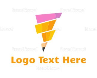 Write - Pencil Tornado logo design