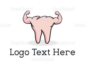 Protein Shake - Strong Tooth logo design
