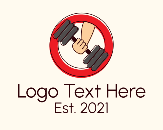 Dumbbell - Dumbbell Gym Equipment logo design