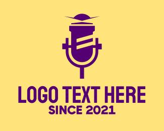 Microphone - Lighthouse Microphone logo design