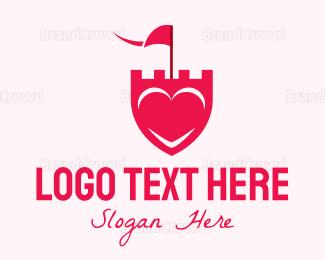 """Pink Heart Shield"" by revotype"