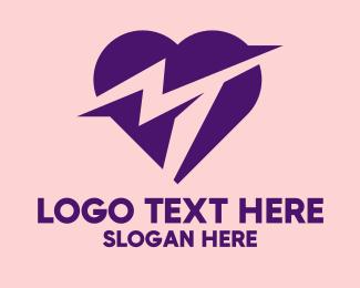 Cardiovascular - Violet Heart Rate App  logo design