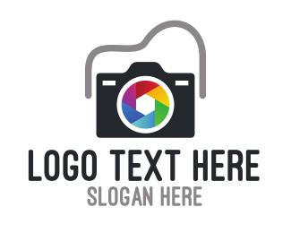 Nikon - Colorful Shutter Lens logo design