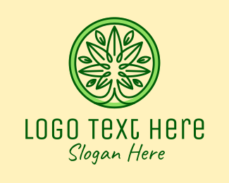 Marijuana Dispensary - Green Marijuana Leaf logo design