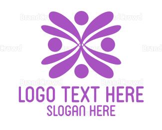 Human - Human Flower logo design
