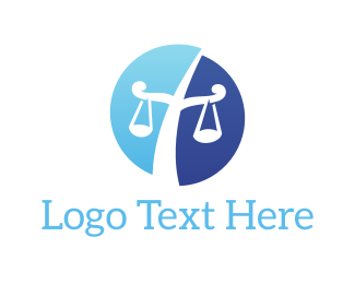 Attorney And Legal Law Scales logo design