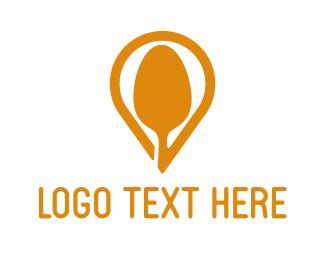 Soup - Spoon Pin logo design
