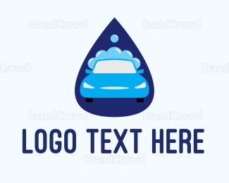 Cleaner - Car Wash Drop logo design