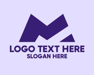 Planning - Blue Architecture Letter M  logo design