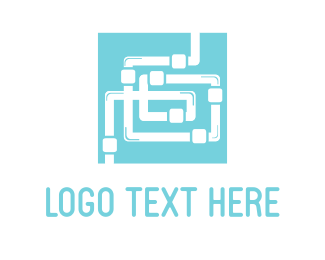 Tube - Plumbing Maze  logo design