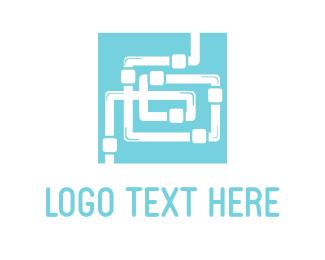 Maintenance - Plumbing Maze  logo design