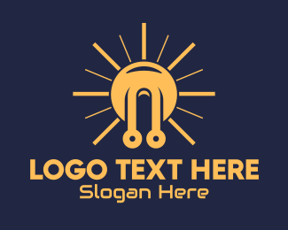 Solar Power - Yellow Sun Tech logo design