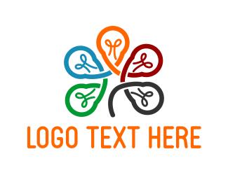 Innovation - Lamp Flower logo design