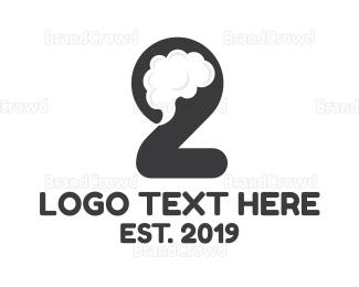 Second - Creative Mind Number 2 logo design