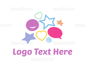 Kids Party - Children Symbols logo design