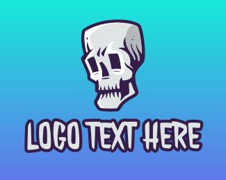 Skull Head - Skull Gaming Mascot logo design