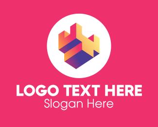 Company - 3D Turret Letter Y logo design