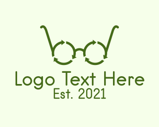 """""""Green Recycle Glasses """" by FishDesigns61025"""