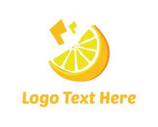 Detox - Yellow Lemon  logo design