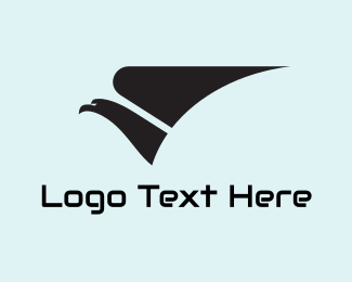 Fast - Grey Eagle & Wing logo design