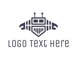 Metal - Media Robot logo design