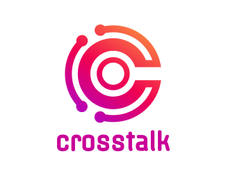 Random Tech Letter C logo design
