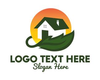 Solar Power - Green Living Home Builder  logo design