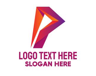 Letter P - Tech Letter P logo design