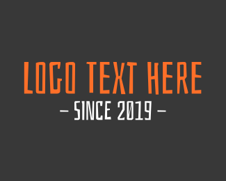 Typography - Cool Font Text logo design