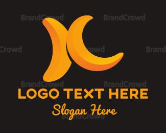 Banana - Banana Duo logo design