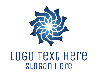 Cleanser - Blue Flower logo design