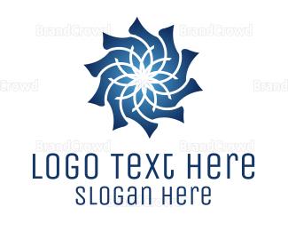 Conditioner - Blue Flower logo design