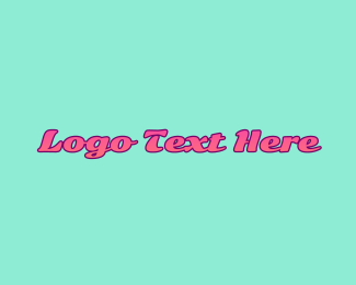 Apparel - Teal & Pink logo design